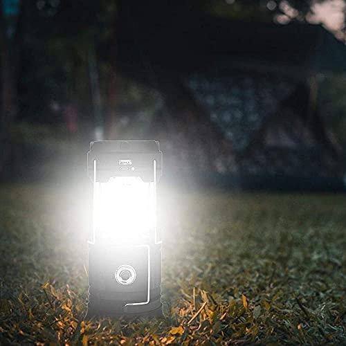 Luz de camping de carga LED portátil solar al aire libre linterna LED apagón impermeable tienda luz accesorios de iluminación utilizados al aire libre en emergencias cortes de energía acampar - negro