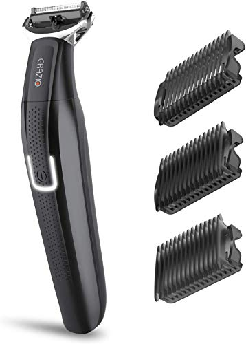 Erazio Hybrid Electric Stubble Trimmer and Shaver for Men, All-in-one kit, Repalceable Head, Rechargable, Black