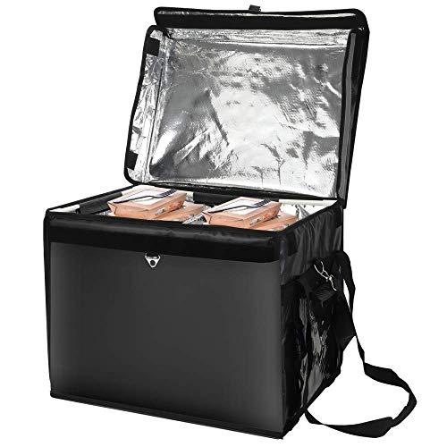 H HUKOER Bolsa de entrega de comida para pizza, impermeable, caja refrigeradora para llevar, grande, con aislamiento térmico, calentador de alimentos, bolsas de transporte para llevar(62L)
