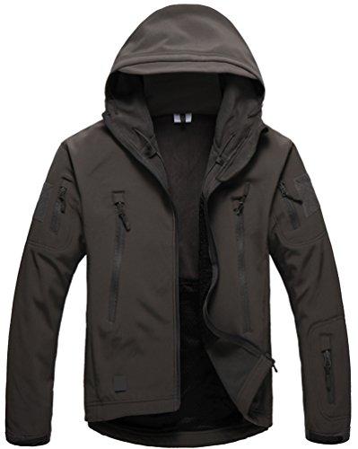 Scopri offerta per Kelmon, giacca da uomo con cappuccio, in tessuto softshell Dark Grey Large