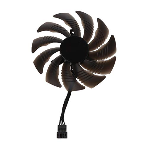 Geneic 88MM T129215SU Ventilador de refrigeración de 4 pines para Gigabyte GTX 1050 1060 1070 960 RX 470 480 570 580 tarjeta gráfica ventilador refrigerador