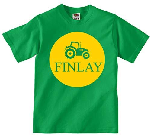 Kids Tractor T Shirt Personalised Deere Name Farmer Farm Design T-shirt Tee Shirt Custom Gift Choose Colours Birthday Childrens ToddlerBoys Girls