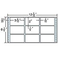東洋印刷 タックフォームラベル 12 5/10インチ ×6 3/6インチ 9面付(1ケース1000折) MT12G