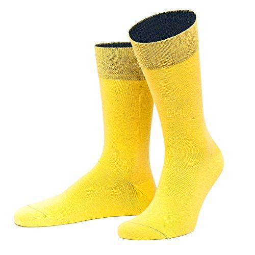 von Jungfeld - Herren Socken/Strumpf Herrensocken Baumwolle 1 Paar 42-44 gelb