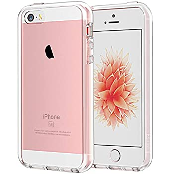 JETech Case for iPhone SE 2016  Not for 2020  iPhone 5s and iPhone 5 Shockproof Bumper Cover Anti-Scratch Clear Back Crystal Clear