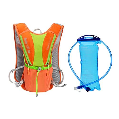 STZJBD Ultraligero al Aire Libre maratón Correr Ciclismo Senderismo hidratación Mochila Paquete Chaleco Bolsa para 2L Bolsa de Agua Botella de vejiga(Color:H)