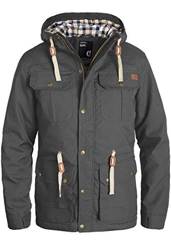 !Solid Chara Herren Winterjacke Herrenjacke Jacke gefüttert mit Kapuze, Größe:L, Farbe:Dark Grey (2890)