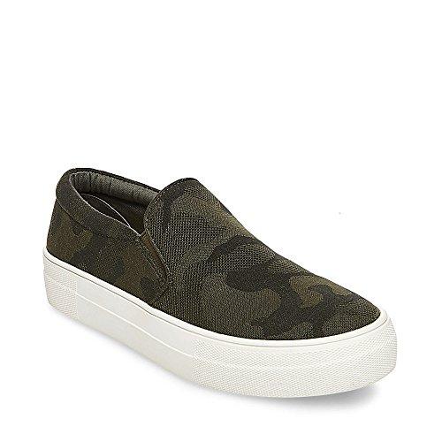Steve Madden Women's Gills Sneaker, Camouflage, 6.5 M US