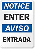 安全標識-注意:入力してください。 金属スズサイン通知警告サイン屋外ストリートロード