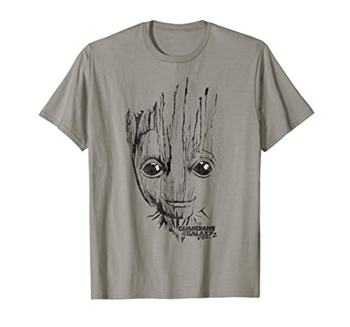 Marvel Guardians Vol. 2 Groot Lines Face Graphic T-Shirt C1