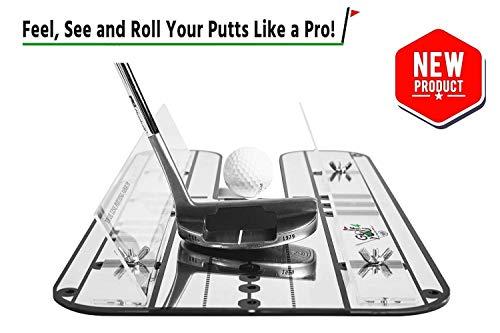 Golf Entrainement Putting Set Haut de Gamme - Miroir d'Alignement avec système de Rails. Parfait...