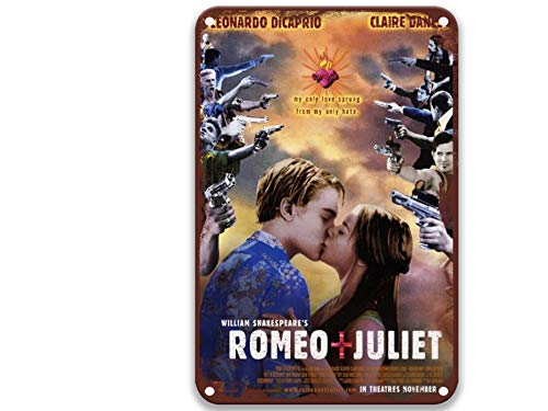 sfasf William Shakespeare's Romeo & Juliet,Vintage Movies Metal Letreros personalizados para el...