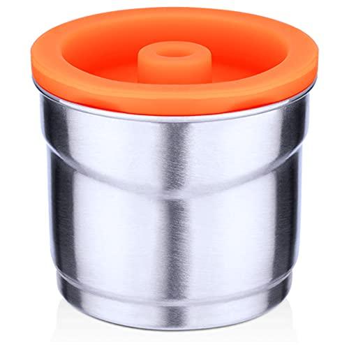 Zwbfu Cápsulas de café de acero inoxidable, cápsulas de café rellenables, compatible con máquina...