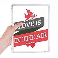 バレンタインデー愛は漂っています 硬質プラスチックルーズリーフノートノート