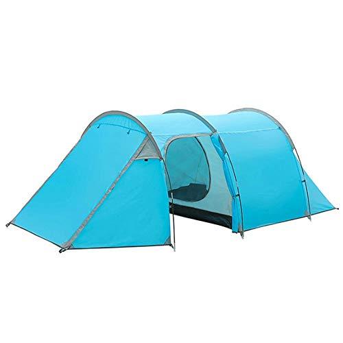 Wasserdichtes Familiencampingzelt 4-5 Personen Zelt Reise Strand-Zelt Große Wandern Zelt Wasserdichtes Sonnenschutz-Markise (Farbe : Blau, Größe : 425x200x130cm)
