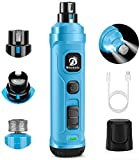 BOUSNIC Dog Nail Grinder with 2 LED Light - Super Quiet Pet Nail Grinder Powerful 2-Speed Electric Dog Nail Trimmer File Toenail Grinder for Puppy Small Medium Large Breed Dogs & Cats (Blue)