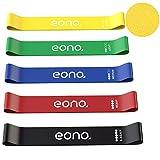 Amazon Brand - Eono - Bandas Elasticas Fitness, 5 Cintas Elastica Set,...