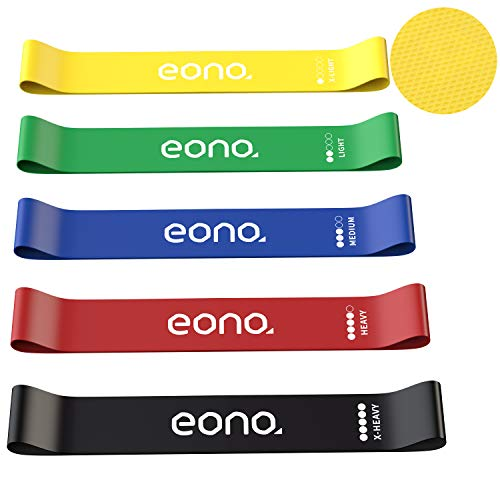 [Amazonブランド] Eono(イオーノ) トレーニングチューブ エクササイズバンド レジスタンスバンド ゴムバンド 強度別 美尻 筋トレ ダイエット リハビリ 収納袋付き