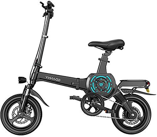 RDJM Bici electrica Plegable 14' bicicleta eléctrica 400W aluminio bicicleta eléctrica con pedal for adultos y adolescentes, o los deportes al aire libre Ciclismo viaje de trayecto, Mecanismo de absor