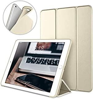 DTTO Case for iPad Mini 4,(Not compatible with Mini 5th generation 2019)Ultra Slim Lightweight Smart Case Trifold Stand with Flexible Soft TPU Back Cover for iPad mini4[Auto Sleep/Wake],Champagne Gold