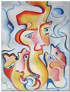 """Pintura Original Lienzo al Óleo Arte Abstracto Moderno """"DESEOS LOCOS"""" por DOBOS, Cuadro para Decoración del Hogar, sala de..."""