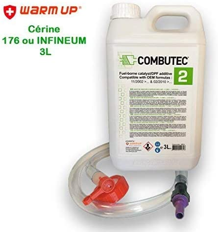 Kit de remplissage cérine Additif FAP 176 ou INFINEUM 7995 Vert F.A.P Combutec 2 3L Warm Up