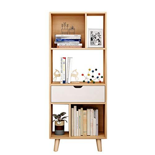 DIY cabinet Biblioteca nórdica Estantería de pie Estantería Moderna Estantes de Almacenamiento Estantes de Oficina Estantería de Estudio