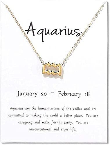 HLH Collar Tauro 12 Constelaciones Collar Colgante Aries Gemini Leo Virgo Libra Escorpio Sagitario Capricornio Acuario Collares Regalo de joyería