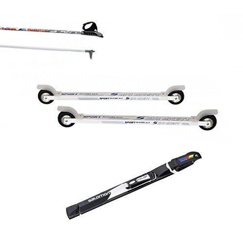 Ski Skett - Juego de Rodillos de esquí (uniones y Bastones)