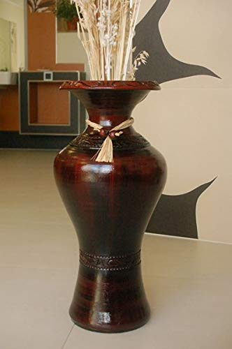 Deko-Shop-Hannusch Edle Bodenvase, Amphore, Vase, Bordeaux, 60 cm, aus Tonkeramik