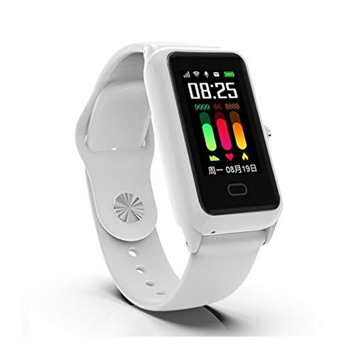 XUEXIU Reloj Inteligente para Niños para GSM900 / 1800/850/1900 Tarifa Cardíaca Soporte De Llamadas Android iOS Adolescentes Muñequeras (Color : White)