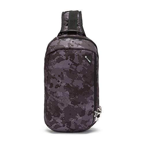 Pacsafe Vibe 325 - Anti-Diebstahl Cross-Body-Bag, Umhängetasche, Sling Bag, Grau Camo/Grey Camo