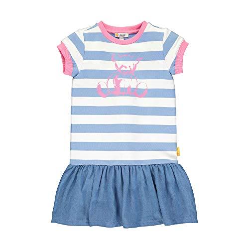 Steiff Mädchen Kleid, Blau (Forever Blue 6027), (Herstellergröße: 104)