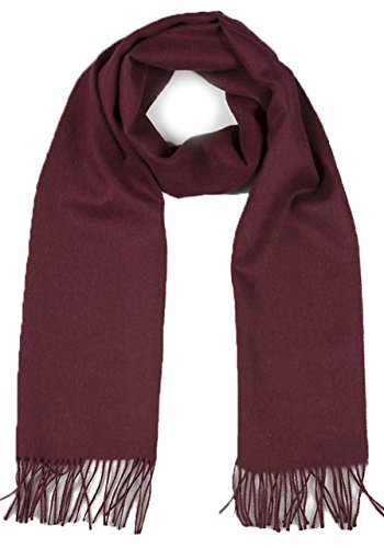 Luxury 100% Pure Baby Alpaca Wool Scarf for Men & Women - A Great Gift Idea in Many Colors (Burgundy)