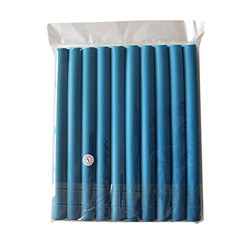 Rulos de Bricolaje para el Cabello Rulos Suaves para el Cabello Rizador de algodón Perlado Rollos de Pelo Rizos Bagels Bendy Flexi Rods Espiral Magic Curl Perms(Color Azul)