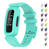 Veezoom Bands Compatible with Fitbit Ace 3 for Kids, Soft Silicone Waterproof Bracelet Accessories, Sport Bands Colorful Wristbands for Fitbit Ace 3 Boys Girls