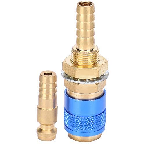 Niunion Wassergekühlter Adapter, 8mm Paar wassergekühlter und Gasadapter Schnellanschluss für MIG Wig Schweißbrenner(Blau)