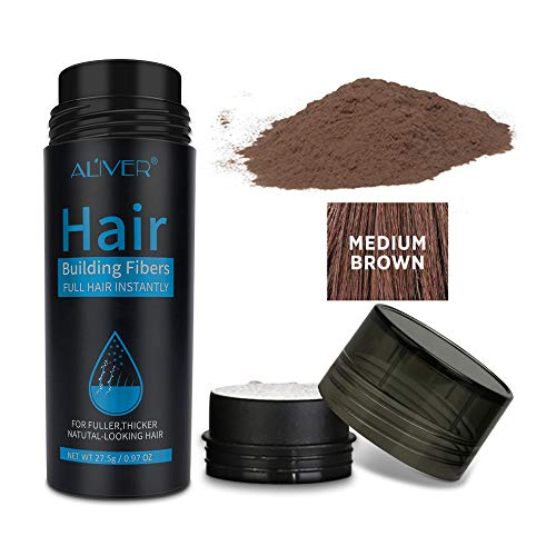 Hair Building Fibers, Hair Thickening Fibers for Thinning Hair & Bald Spots, Hair Loss Concealer, Natural Formula, Completely Conceals Hair Loss in 15 Seconds, Instantly Thick, Full, Shiny Hair