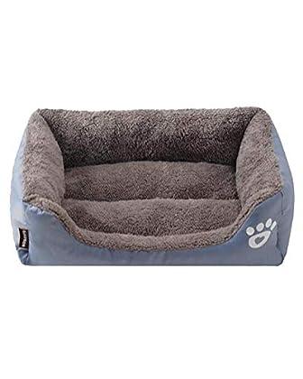 Verwendet Plüsch als Futter, das weich und warm ist. Der Eingang ist niedriger, um einen einfachen Zugang zum Bett zu ermöglichen Die Ränder sind angehoben, um sicherzustellen, dass sich der Hund sicher fühlt und den Kopf des Hundes unterstützt. Die ...