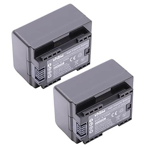 vhbw 2x Li-Ion batteria 1600mAh (3.6V) con infochip per telecamera videocamera camcorder Canon Legria HF R66, HF R68, HF R606 sostituisce BP-718