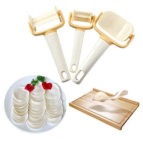 YXZQ Teigschneider - Ausstechformen für Keksplätzchen Knödelschneider Ravioli Plätzchenhersteller für Kekse Knödel 3 Stück