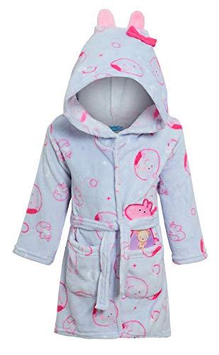 Peppa Pig Bademantel mit Kapuze für Mädchen, 3D-Bademantel Gr. 4 Jahre, hellblau