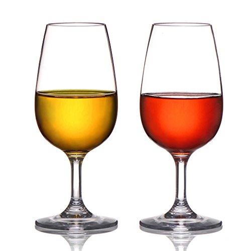 MICHLEY Unzerbrechlich Tritan-Kunststoff weinglaeser, rotwein trinkglas, gläser fur Camping Party, BPA-frei 230 ml plastik Tasse 2er set