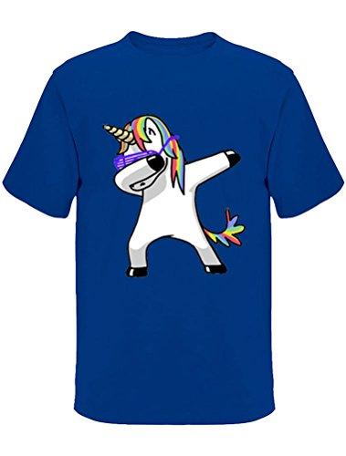 ROBO Camisetas Unicornio Manga Corta Cuello Redondo Básicas Clásicas Novedades Originales Sueltas Transpirables Cómodas T-Shirts Top Hombre
