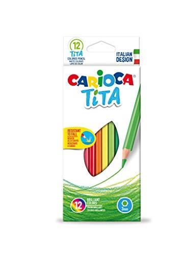 Carioca 42793–Scatola da 12matite colorate Tita - esagonali
