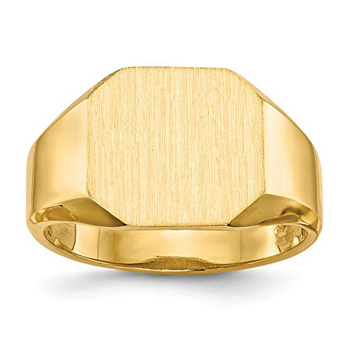 Ring, 14 Karat, Siegelring, Größe P 1/2-JewelryWeb