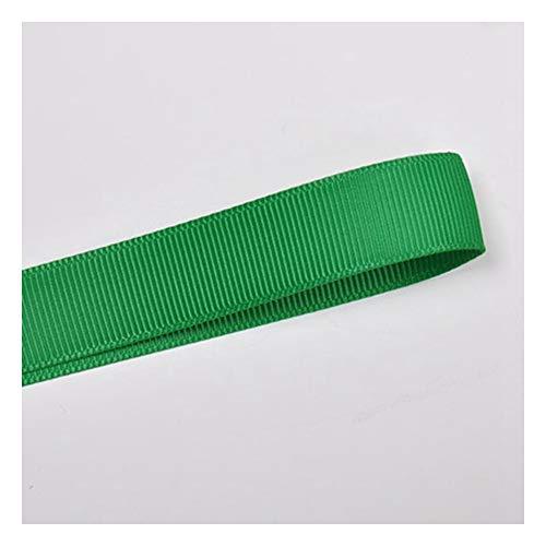 JIWEIER Cinta acanalada de poliéster de color sólido, 6 mm, accesorios para el cabello, manualidades verdes (tamaño: 580)