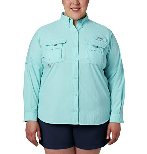 Columbia Sportswear Bahama à Manches Longues pour Femme XL Bleu Transparent