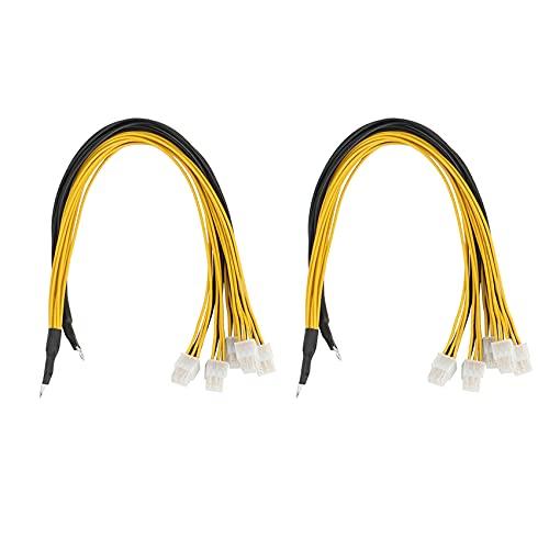 LUOSHEN 2 Paquet 6Pin Connecteur Serveur Cable d'alimentation PCIe Express pour Antminer S9 S9I Z9 pour P3 P5 Support Miner PSU Cable