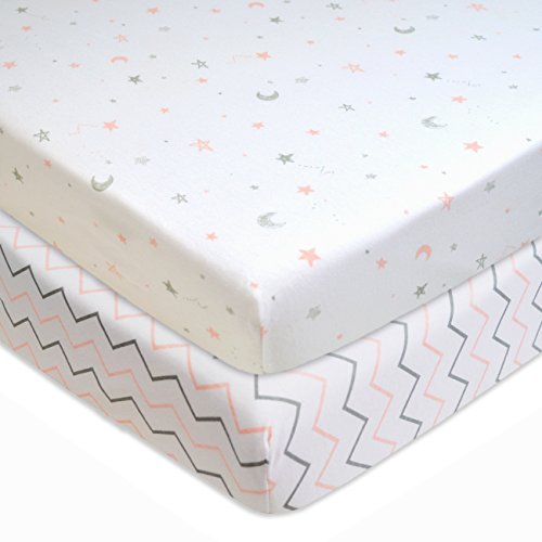 2 Pack, American Baby Company Printed 100% Natural Cotton Jersey Knit Fitted Pack N Play Playard Sheet -$8.13(52% Off)